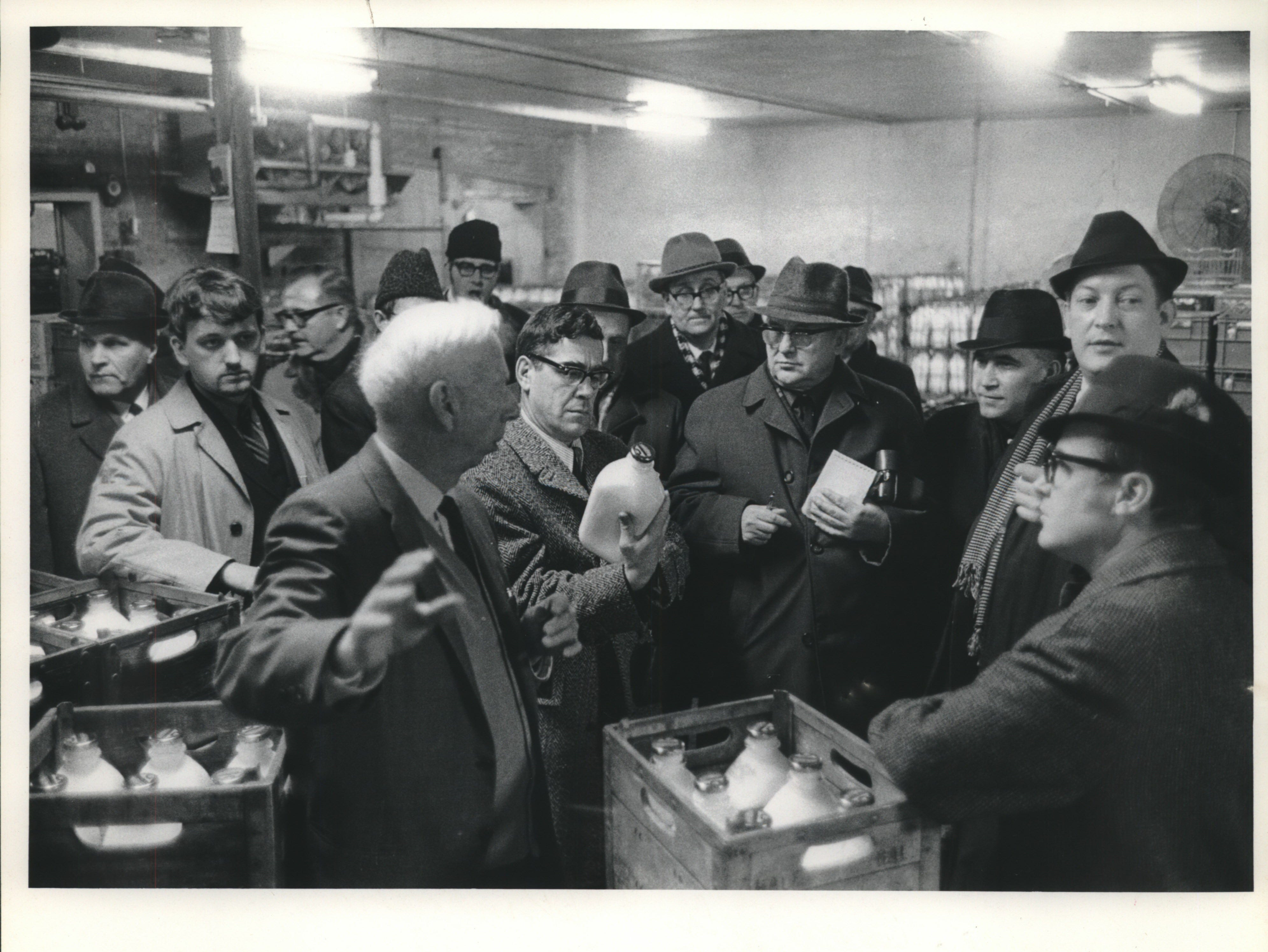 1970: Wisconsin's dairy industry was still held up as an example of local success tp visiting Soviet journalists at Golden  Golden Guernsey Coop plant in Waukesha.