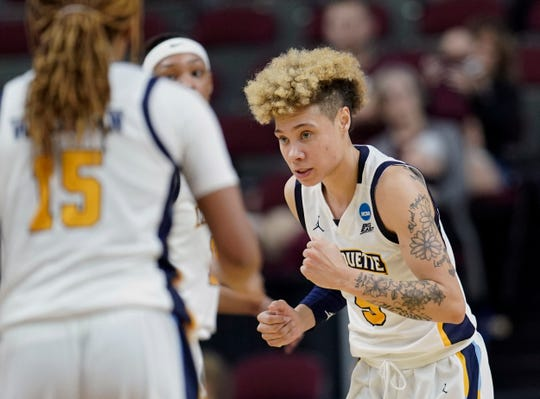 Marquette's Natisha Hiedeman is seen as a WNBA prospect with her ability to knock down three-pointers.