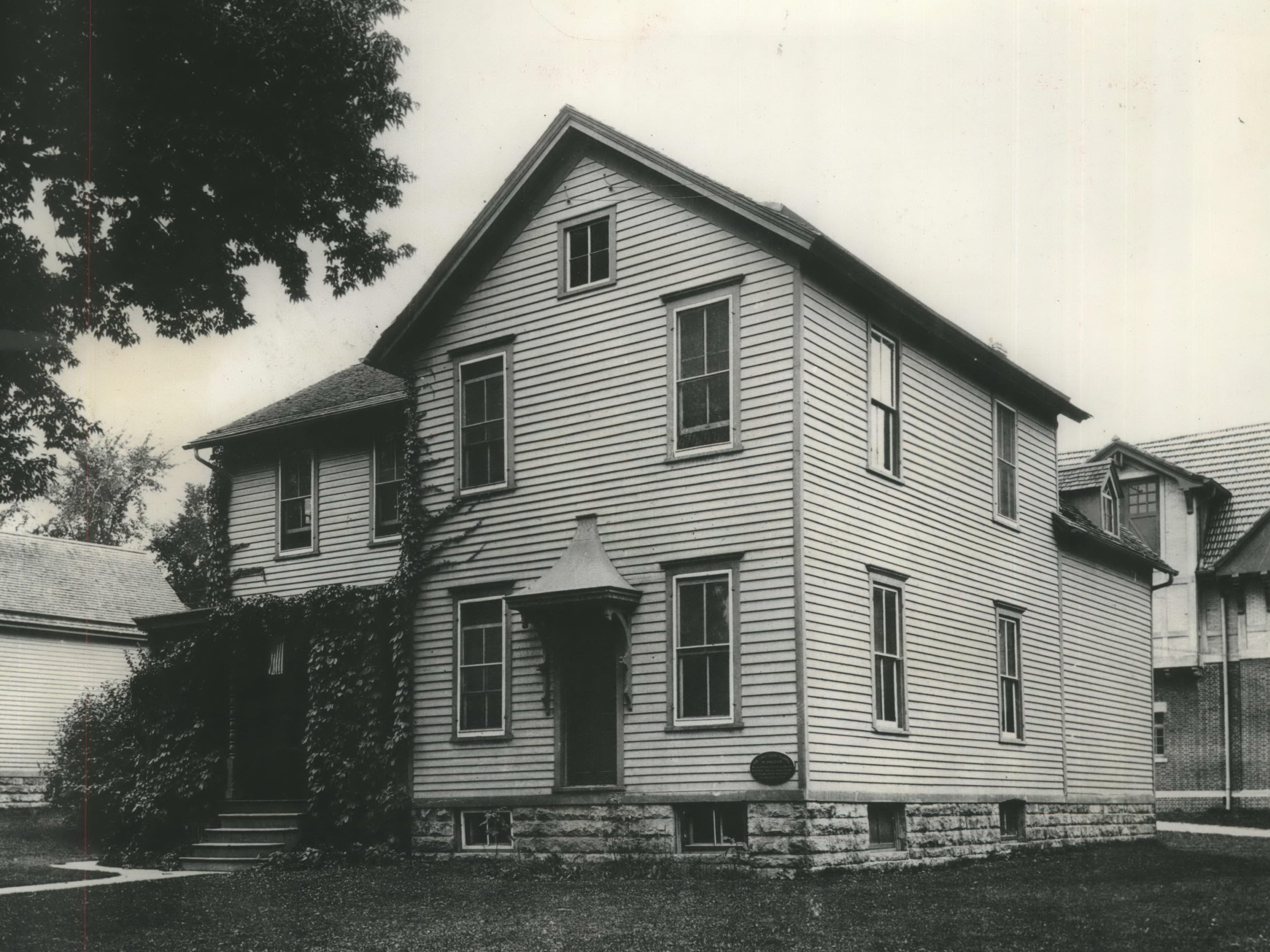 University of Wisconsin gave us America's first dairy school. Instruction was held in this building in 1890. Soon after, state farms saw progress in dairy herd care. The building was torn down in 1950.