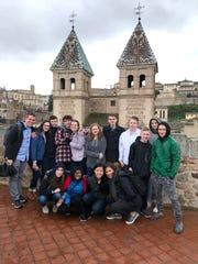 University Lake School Upper School students on a week-long trip to Spain.