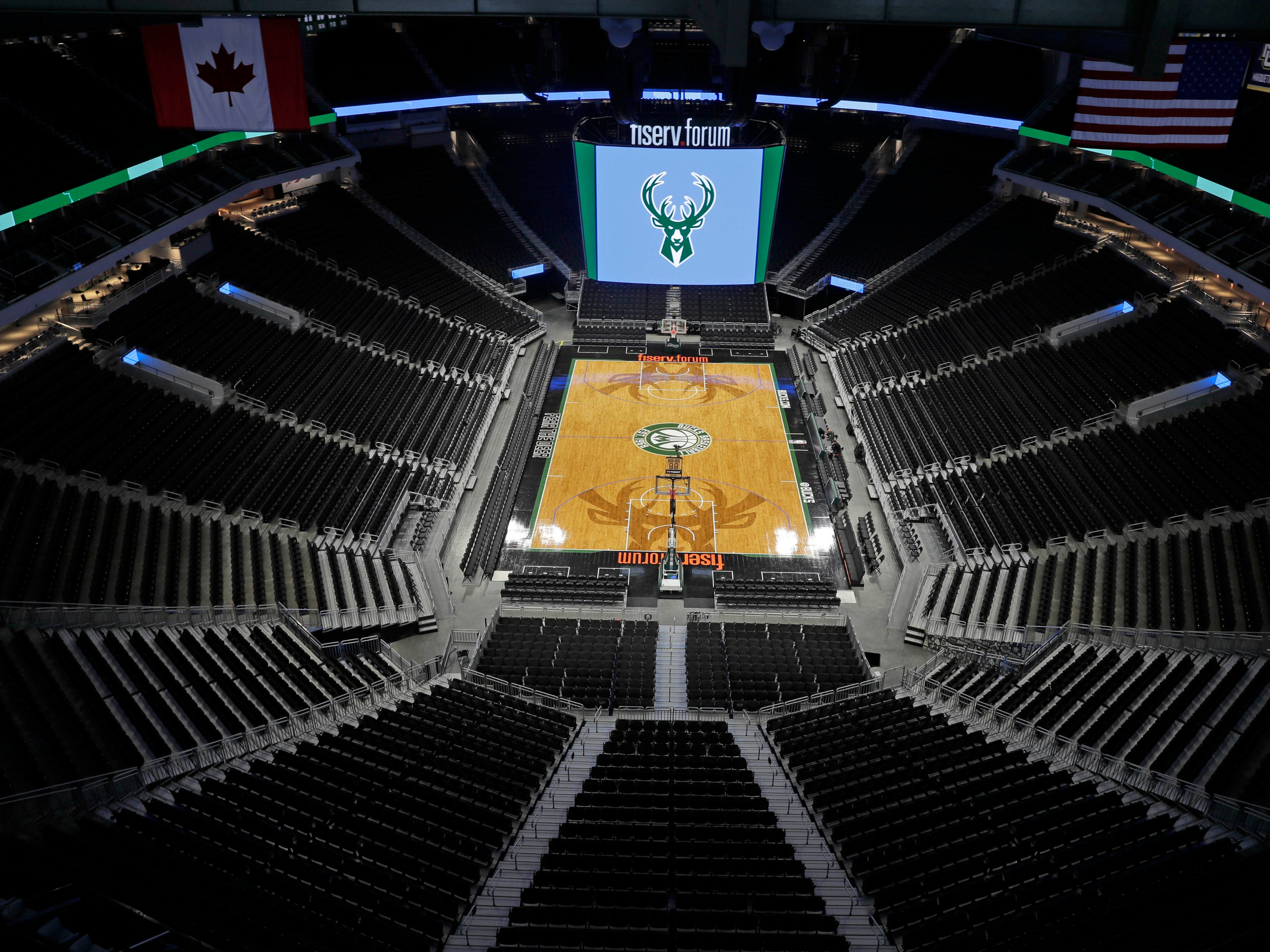 The Bucks have made some changes to the interior of the Fiserv Forum since opening.