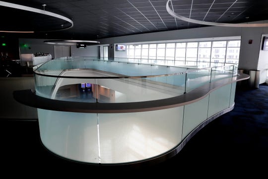 The Milwaukee Bucks have glazed the glass surrounding the soaring Fiserv Forum atrium after hearing that some patrons said the high, open area made them feel uncomfortable. A drink rail was also added. They are among the  numerous changes made since the new arena opened.