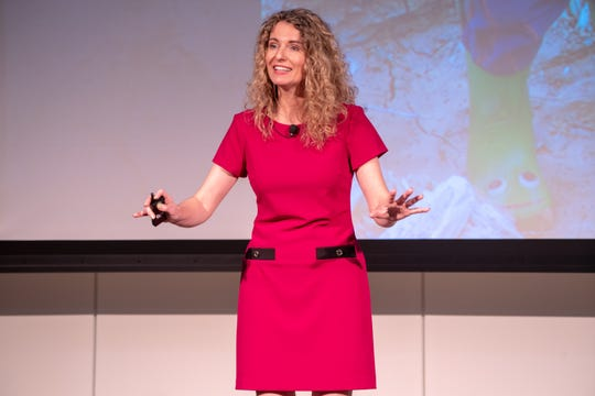 On Thursday, Cara Brookins shared her story and told workers at CenturyLink headquarters that they should fearlessly pursue their goals.