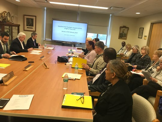 The Greystone Park Psychiatric Hospital Board of Trustees meets in Parsippany. March 21, 2019.