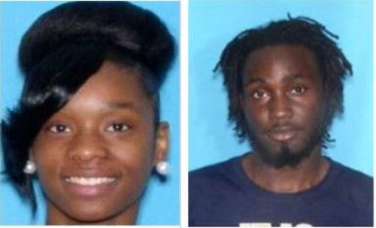 Jonisha Jordan, left, and Rufus Brown face murder indictments and other charges in connection with a fatal high speed chase that ended in the Coosa River in downtown Wetumpka.