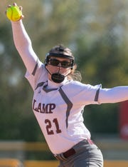 LAMP pitcher Taylor Cassidy throws during the FCA Alex Wilcox Memorial Softball Tournament at Lagoon Park in Montgomery, Ala., on Friday March 22, 2019.