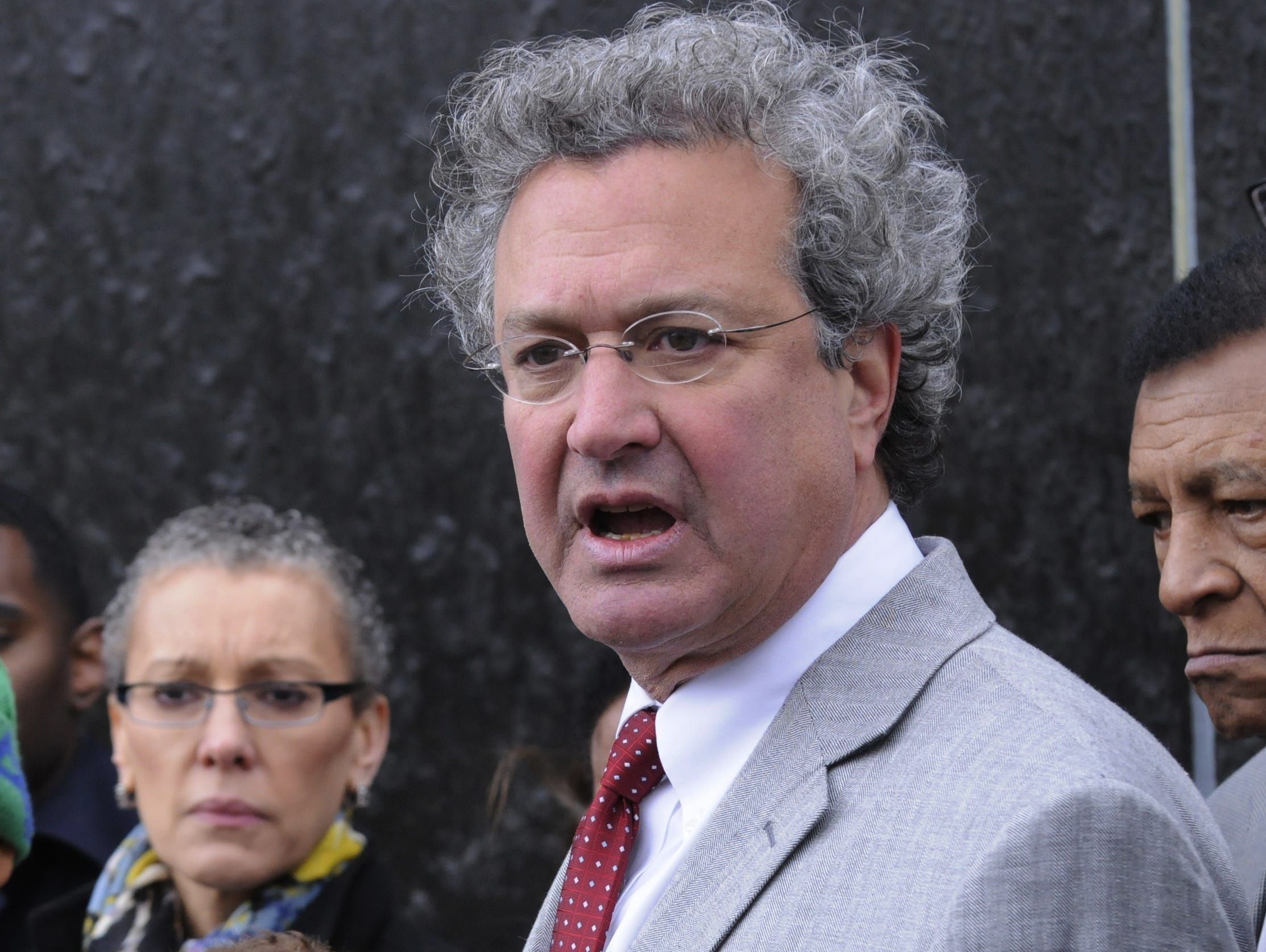 Richard Cohen, President of the Southern Poverty Law Center, testified for birthright citizenship. Richard Cohen, President of the Southern Poverty Law Center, speaks as members of the Faith and Politics 13th Congressional Civil Rights Pilgrimage gather around the Civil Rights Monument in Montgomery, Ala., on Saturday, March 2, 2013. (Montgomery Advertiser/Lloyd Gallman)