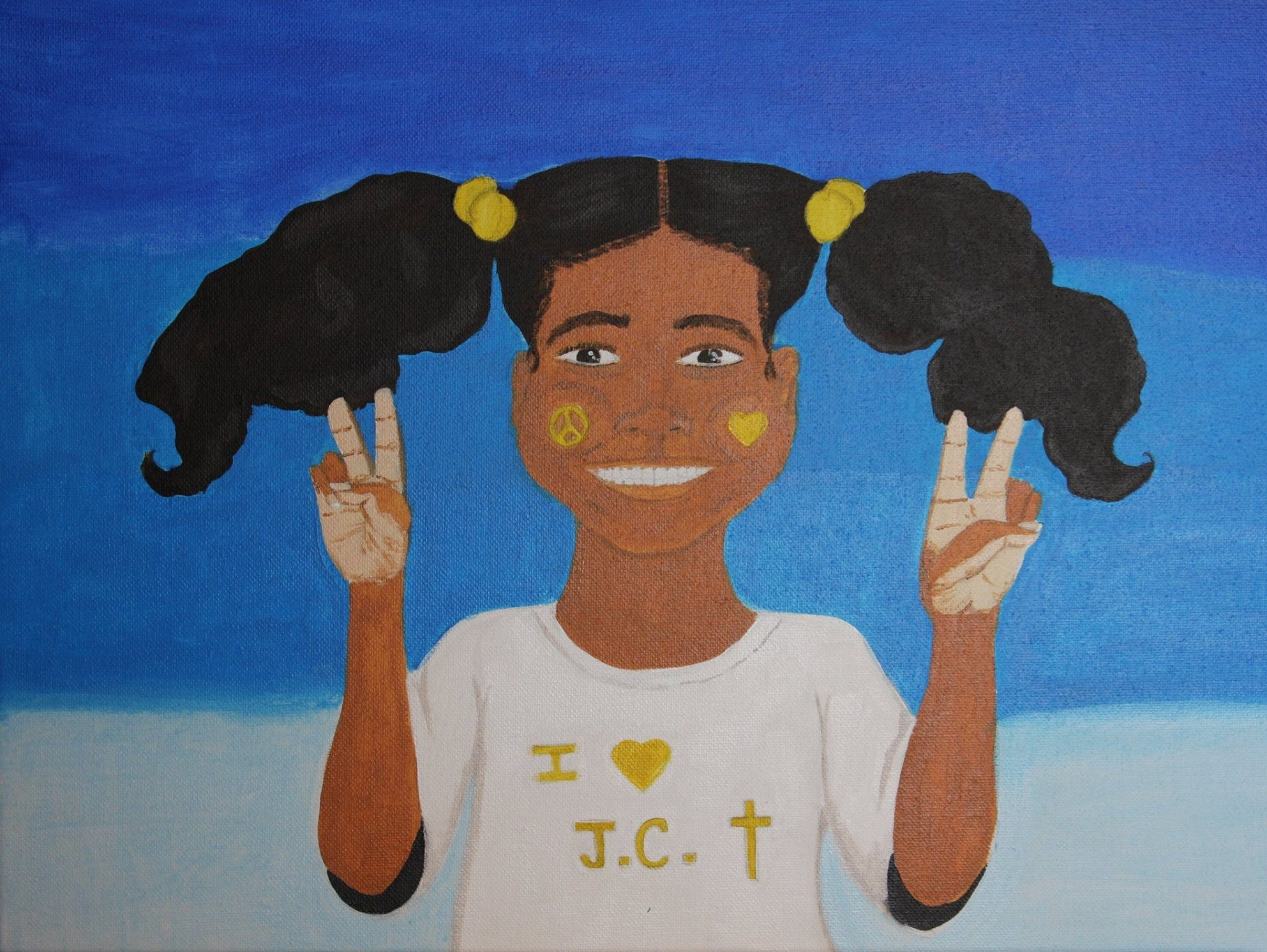 Painting by Brittany Goodson, who will be at the Rutherford County Hot Chicken and Art Show.