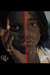 """MTSU graphic design major Phillip Mayberry of Nashville created this art depicting actor Lupita Nyong'o in her dual roles in Academy Award-winning writer-director Jordan Peele's new film, """"Us."""""""