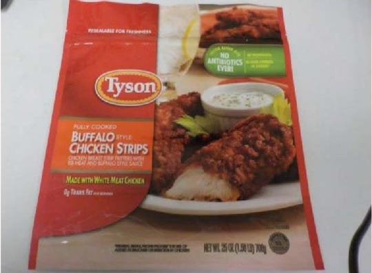 Tyson Foods is recalling more than 69,000 pounds of these froze chicken strips due to possible metal contamination