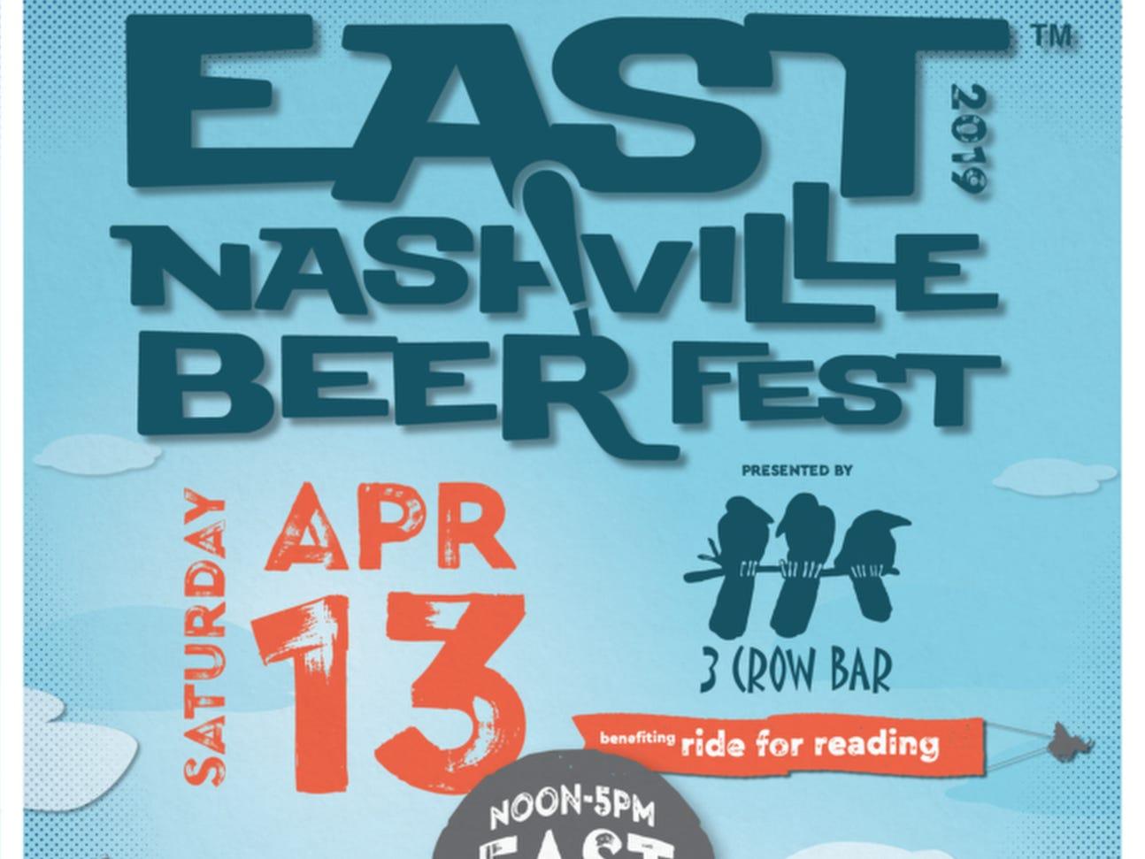 April 13 EAST NASHVILLE BEER FESTIVAL: Noon-5 p.m., East Park, $60-$100, eastnashvillebeerfest.com
