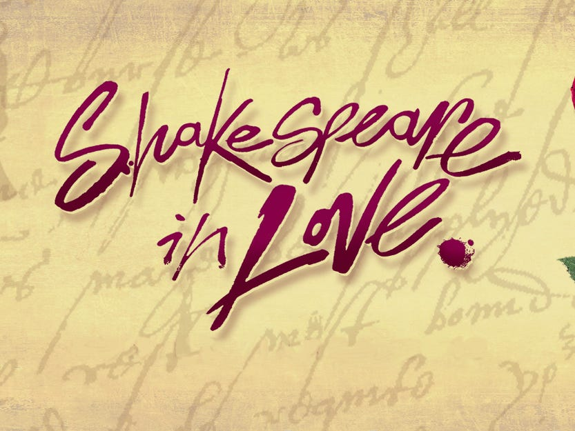 """April 3 NASHVILLE REPERTORY THEATRE PRESENTS """"SHAKESPEARE IN LOVE"""": Through April 13, Tennessee Performing Arts Center, $52.50, tpac.org"""
