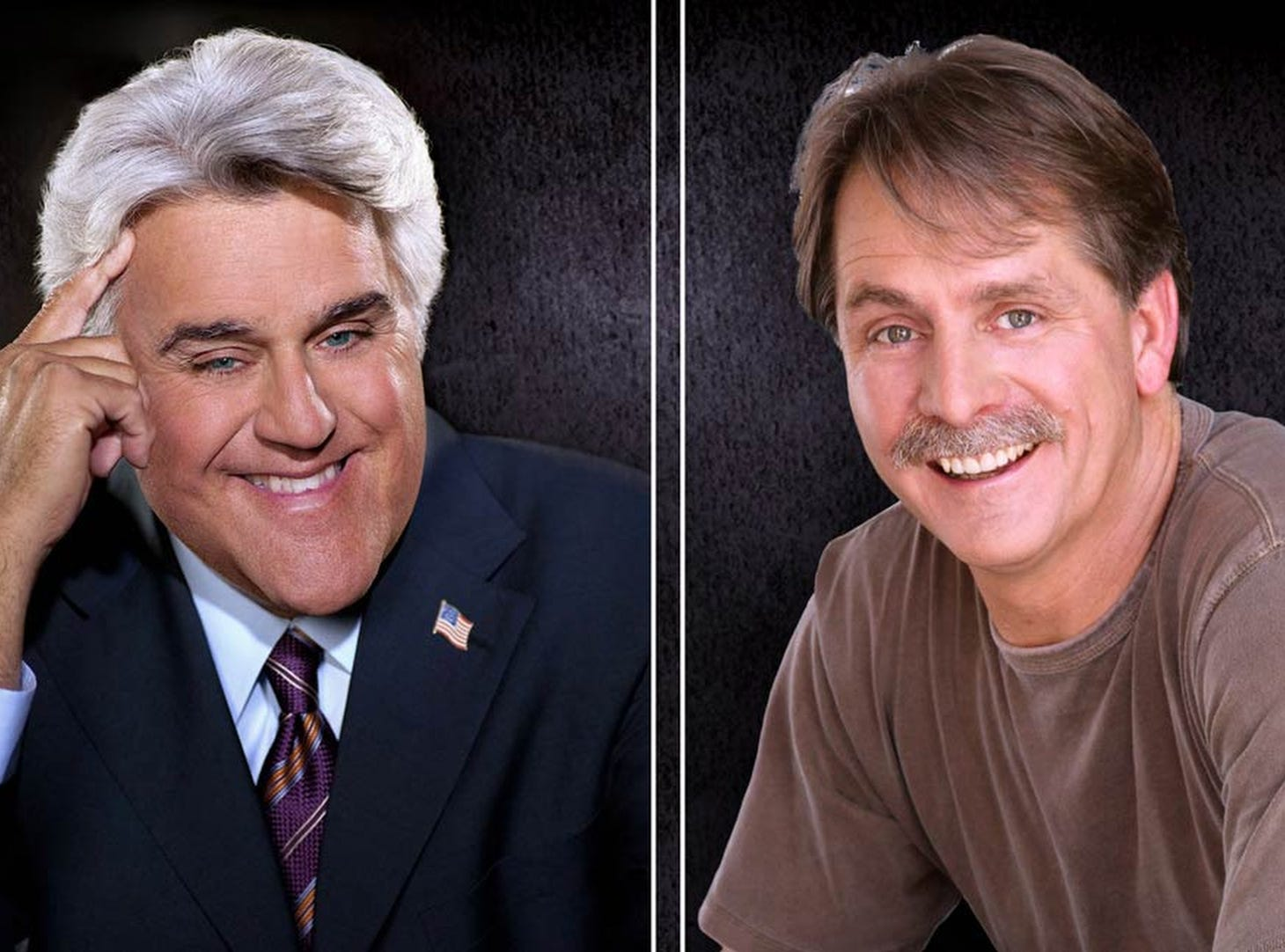 April 14 JAY LENO AND JEFF FOXWORTHY: 6 p.m. Grand Ole Opry House, $59-$89