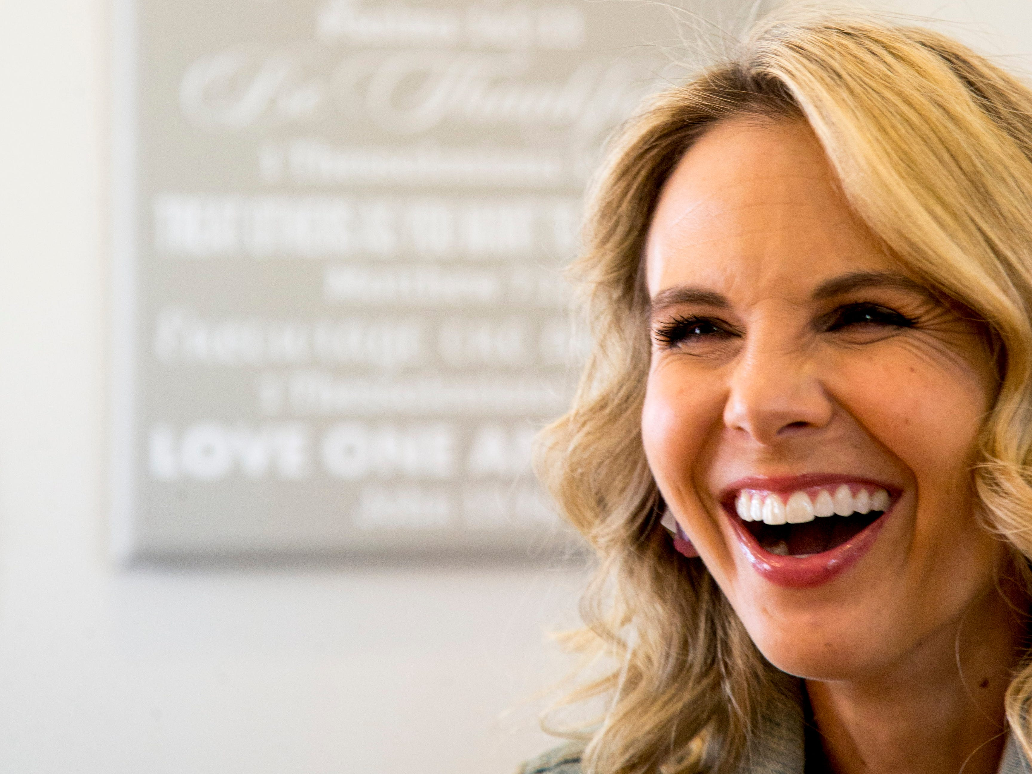 Elisabeth Hasselbeck -- pictured here in her Nashville home -- says ABC offered her her job back on The View last summer. She said she turned it down, in part, because she didn't want to move her family out of Middle Tennessee