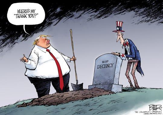trump buries decency.  no thanks.