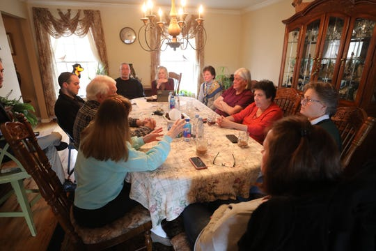 Glenn and Dory Kowal hosted a group of West Milford residents gathered to discuss problems they're having with a nearby group home.