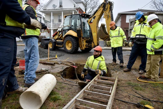 Suez water company checked water lines on Grand Ave for lead water pipes in Little Ferry in 2019.