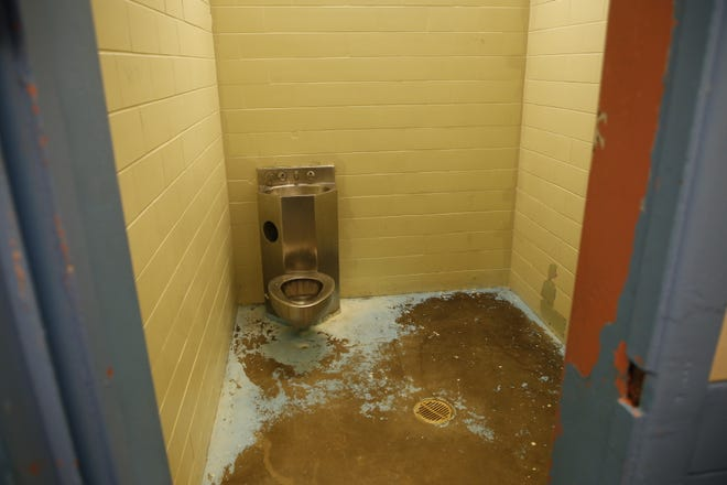 An isolation cell was shown during a tour of the Shiprock Police Department by U.S. Rep. Ben Ray Luján, D-N.M., on Friday.