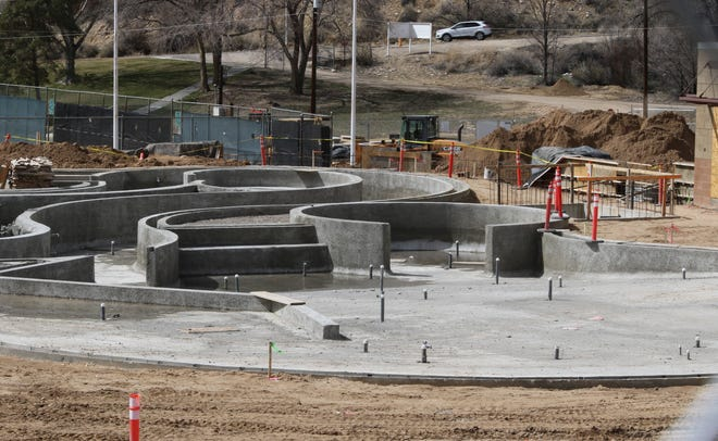 The future Bisti Bay at Brookside Park is pictured, Friday, March 22, 2019, in Farmington. A contest to create a mascot for the new waterpark is underway, with park passes as the prizes.