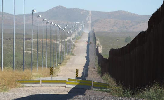 Miles of border are protected with a wall segment.