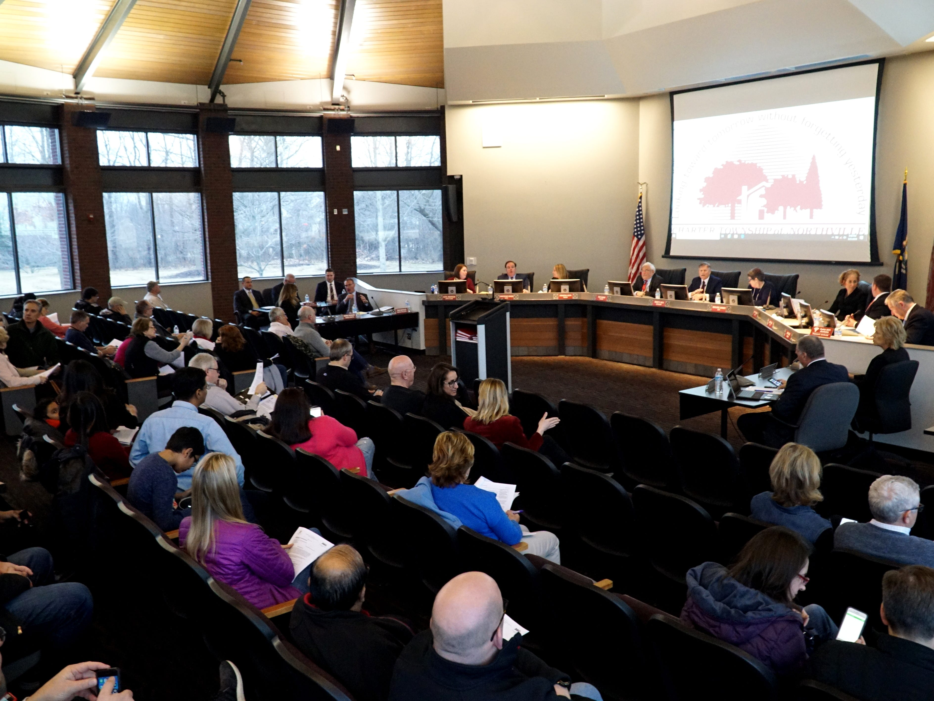 There was a good turnout for the March 21 Northville Township Trustees meeting - as many residents wanted to air their concerns about the landfill at Six and Napier.
