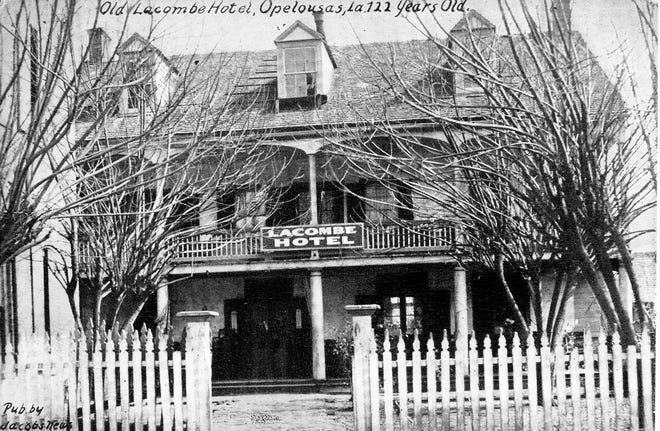 The old Lacombe Hotel at around the turn of the 20th century.