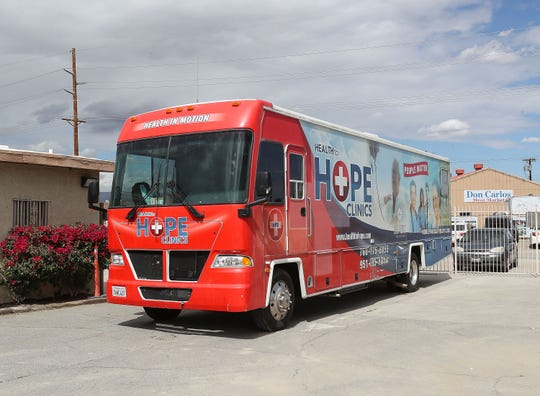 The Health to Hope mobile clinic provided medical services to those in need at the Galilee Center in Mecca, March 21, 2019.