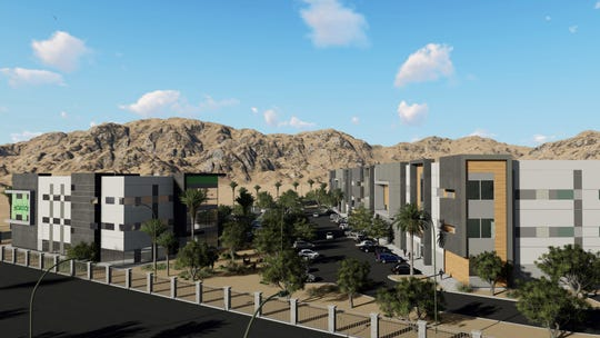 Desert Rock Development recently broke ground on a new 22-acre cannabis park. City leaders hope to see the city's industrial zones transform to growing areas for cannabis.