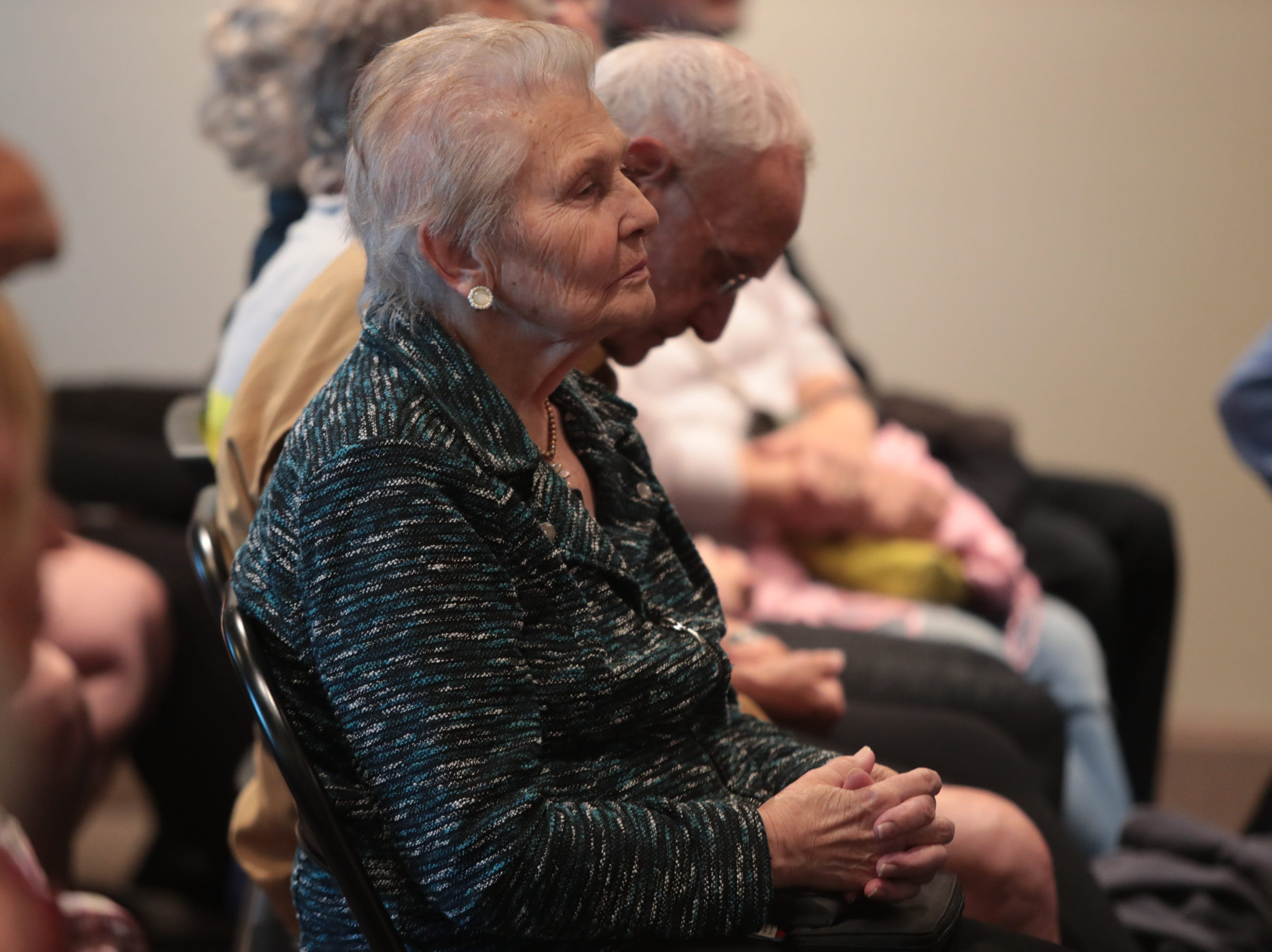 """At March's Coachella Valley Storytellers Project evening presenters shared stories of """"searching"""", La Quinta, Calif., March 21, 2019."""
