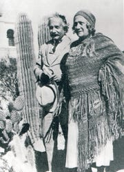 Dr. and Mrs. Albert Einstein at the El Mirador Hotel January 1931.