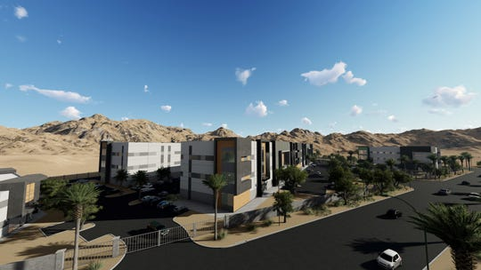Desert Rock Development recently broke ground on a new 22-acre cannabis park. Other cultivators have several projects proposed in the city's wrecking yard zone.