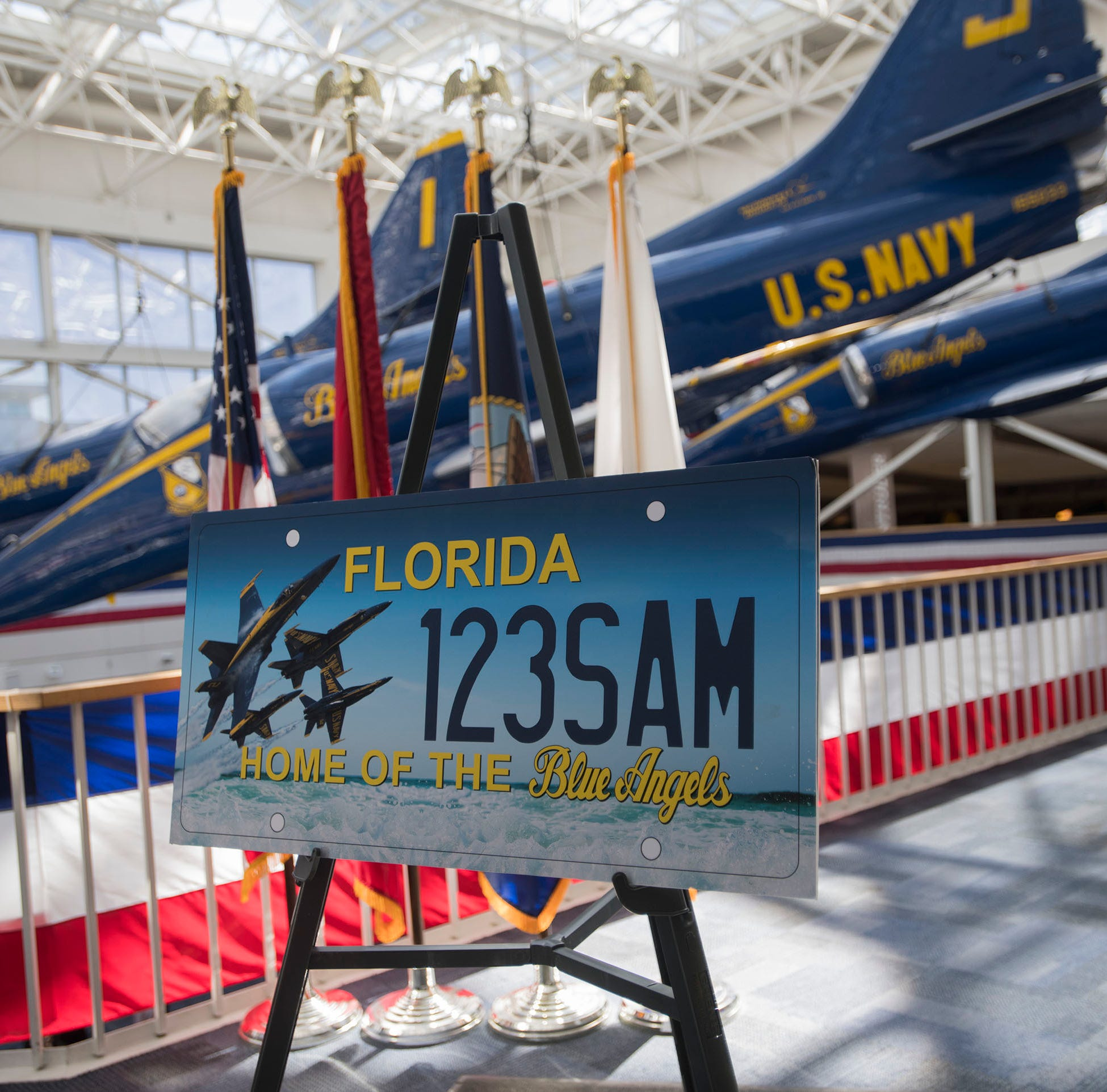 Blue Angels license plates could become major source of funding for Naval Aviation Museum