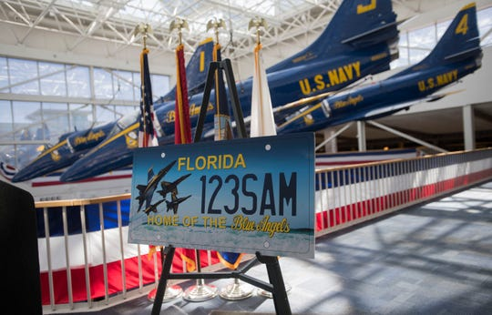 Florida's new specialty license plate honoring the Blue Angels will not be available until at least 2020.