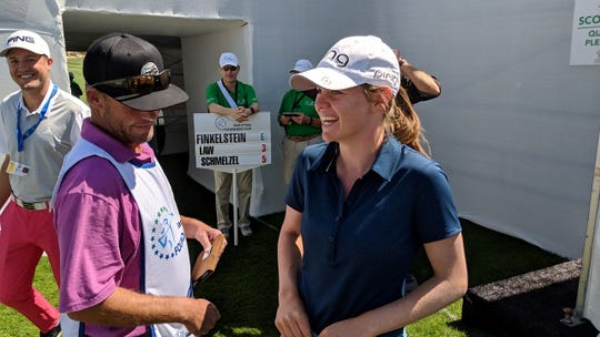 Sarah Schmelzel shot a five-under par 67 on Thursday at the LPGA's Bank of Hope Founders Cup.