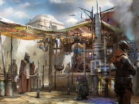 Luke Skywalker always drank his blue and green milk, and you can too at the Milk Stand opening May 31 at Star Wars: Galaxy's Edge in Disneyland.