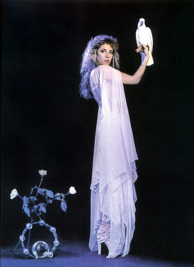 Stevie Nicks, from the cover of her 1981 debut solo album Bella Donna.