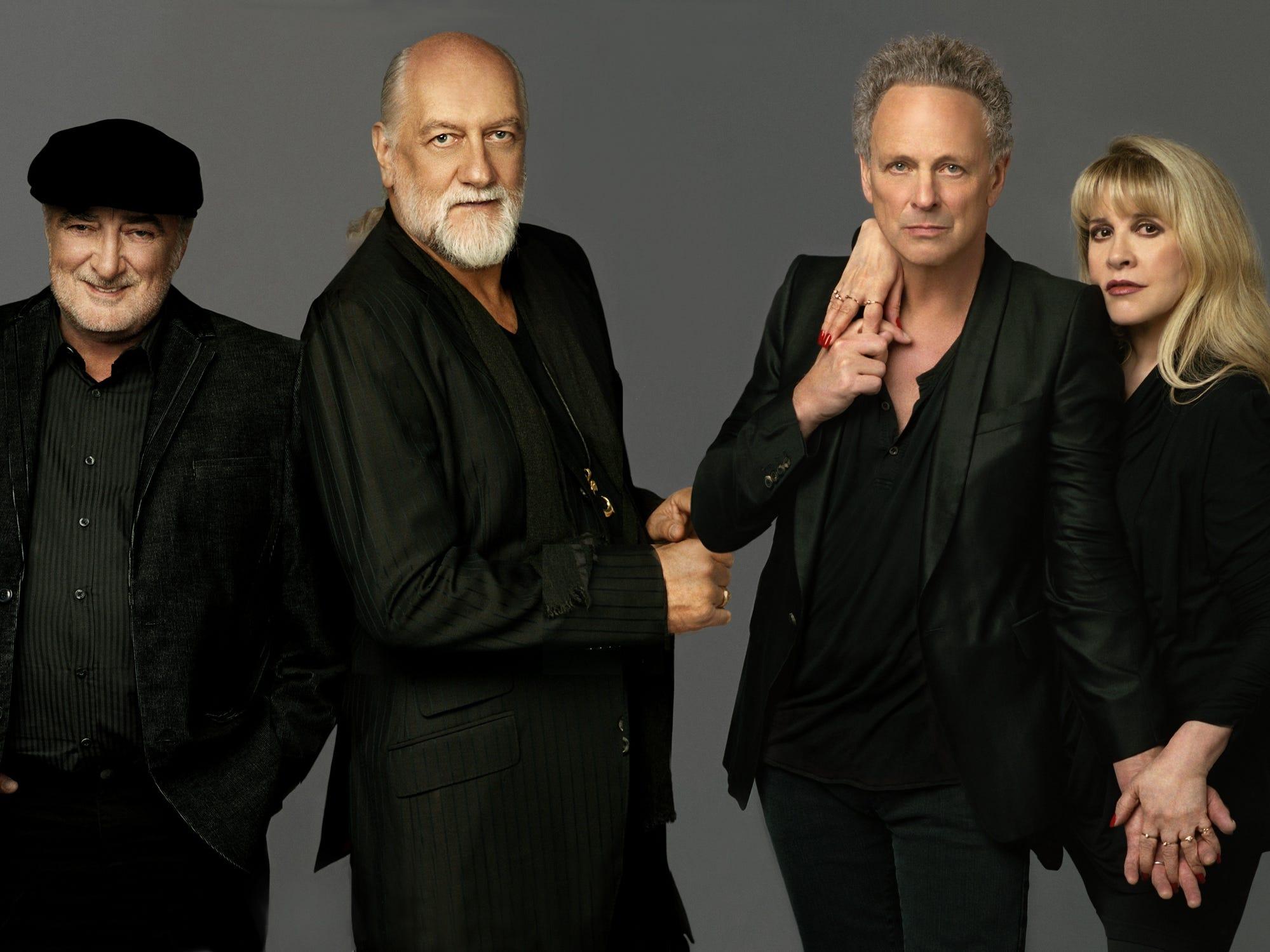 Fleetwood Mac (from left): John McVie, Mick Fleetwood, Lindsey Buckingham and Stevie Nicks.  Credit: .