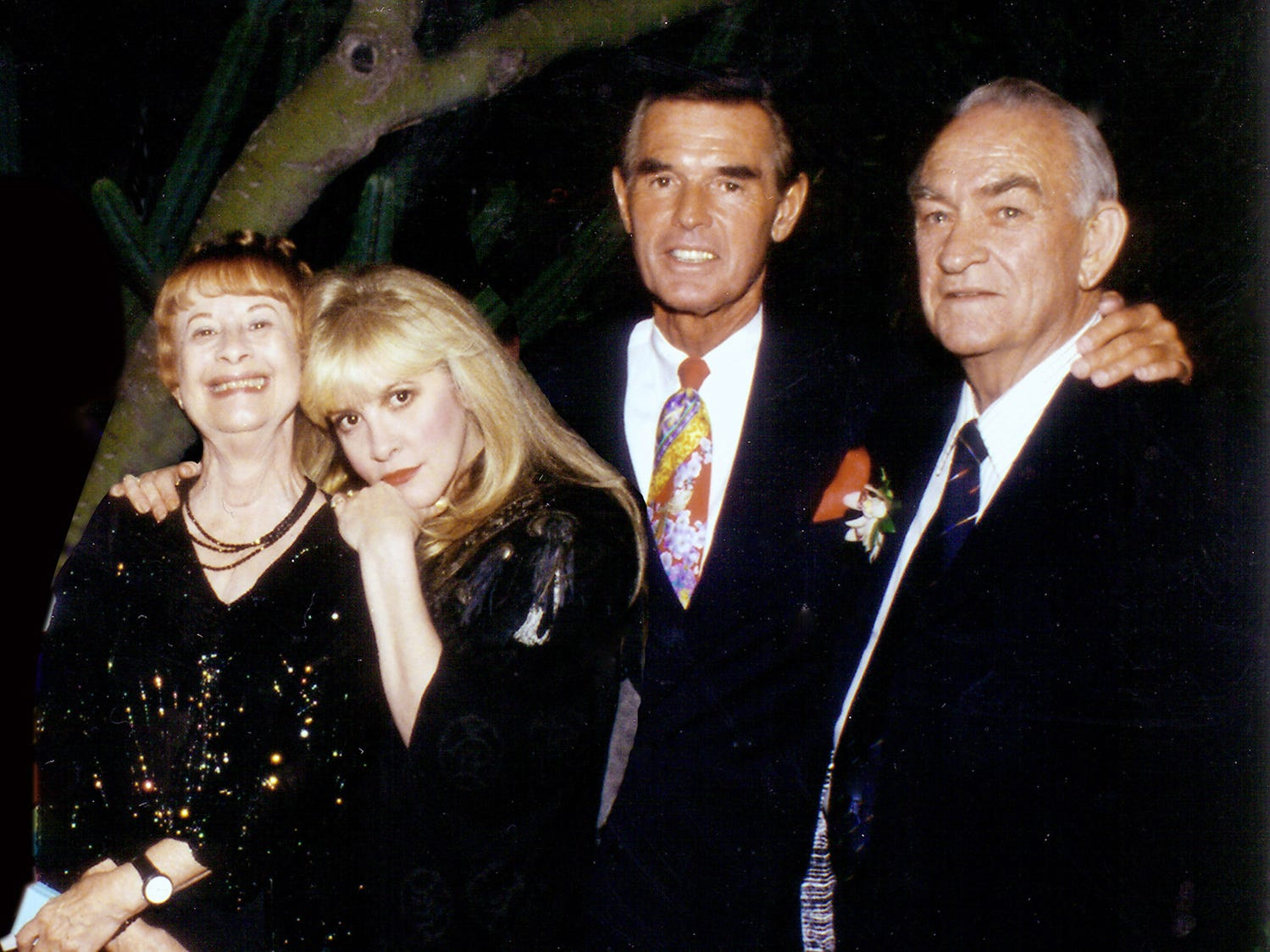 Barbara and Stevie Nicks, Dr. Ted Diethrich and Jess Nicks at a benefit concert for the Arizona Heart Association in 1998.  A previous version of this caption misspelled Dr. Ted Diethrich.