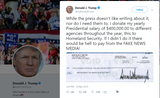 President Trump tweeted that he gives away his entire presidential salary. Columnist EJ Montini explains why that's the wrong move.