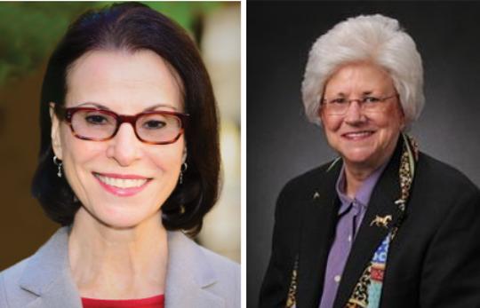 Scottsdale Councilwomen Suzanne Klapp (left) and Virginia Korte.
