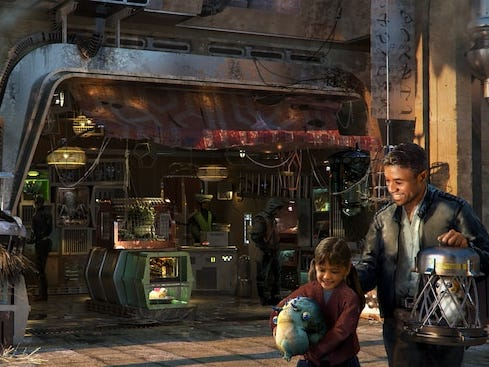 Buy an otherworldly pet at the Creature Stall, opening May 31, 2019 at Star Wars: Galaxy's Edge in Disneyland.