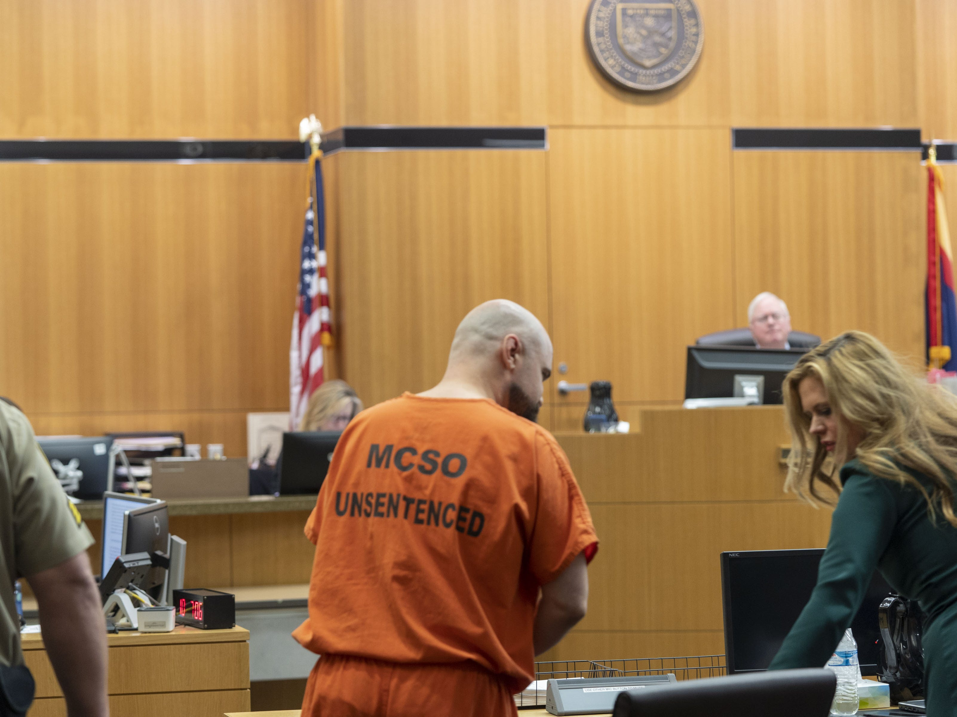 Judge Warren Granville sentenced Michael Crane life without parole for the first-degree murder of Bruce Gaudet, Glenna and Lawrence Shapiro, kidnapping, burglary, arson, and other charges at Maricopa County Superior Court on Friday, March 22, 2019.