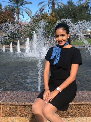 Selene Saavedra Roman, a flight attendant who traveled to Mexico for work with employment authorization through a program for immigrants brought to the country as children, has been detained.