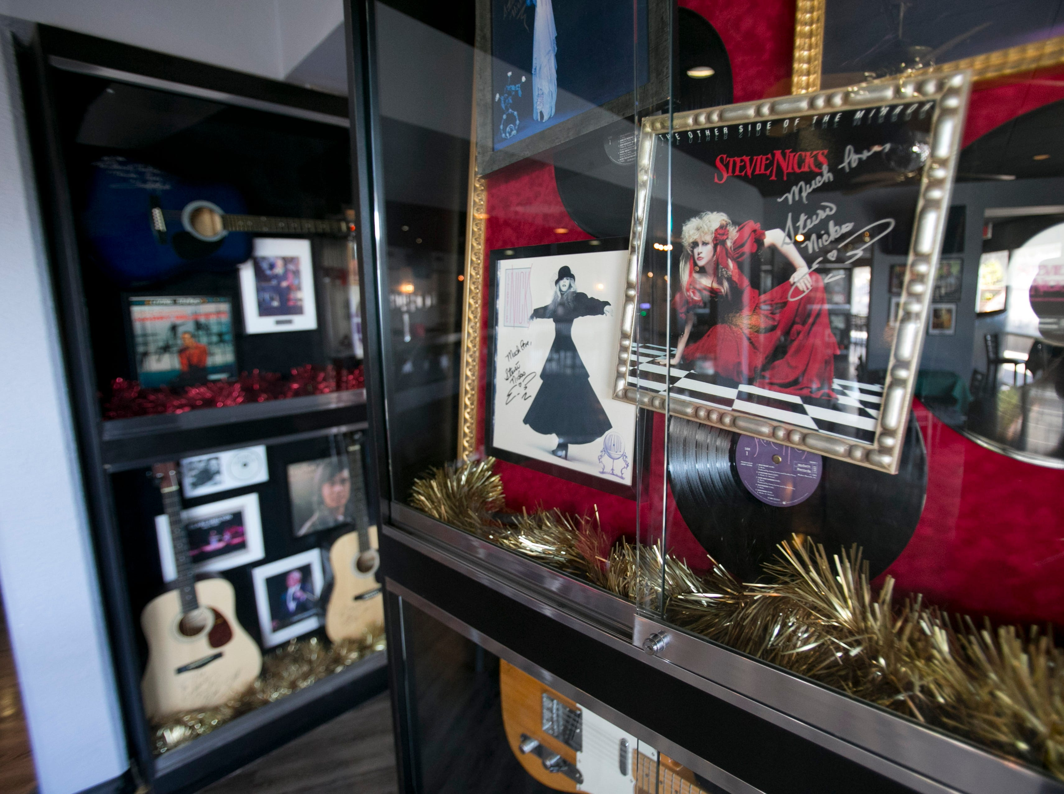 Stevie Nicks memorabilia is seen at the Celebrity Club in the Celebrity Theater in Phoenix Dec. 13, 2013.