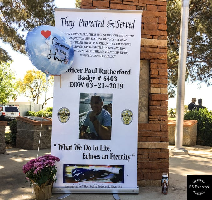 Memorial Poster for Officer Paul Rutherford