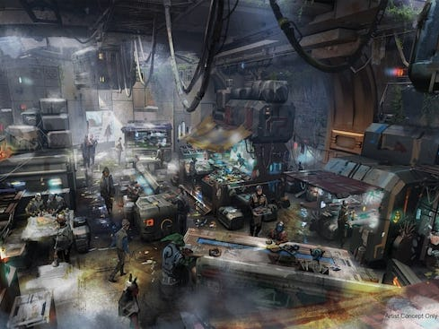 You're likely to work up a hunger while visiting a remote planet. Recharge at Docking Bay 7 Food and Cargo, opening May 31, 2019 in Star Wars: Galaxy's Edge at Disneyland.
