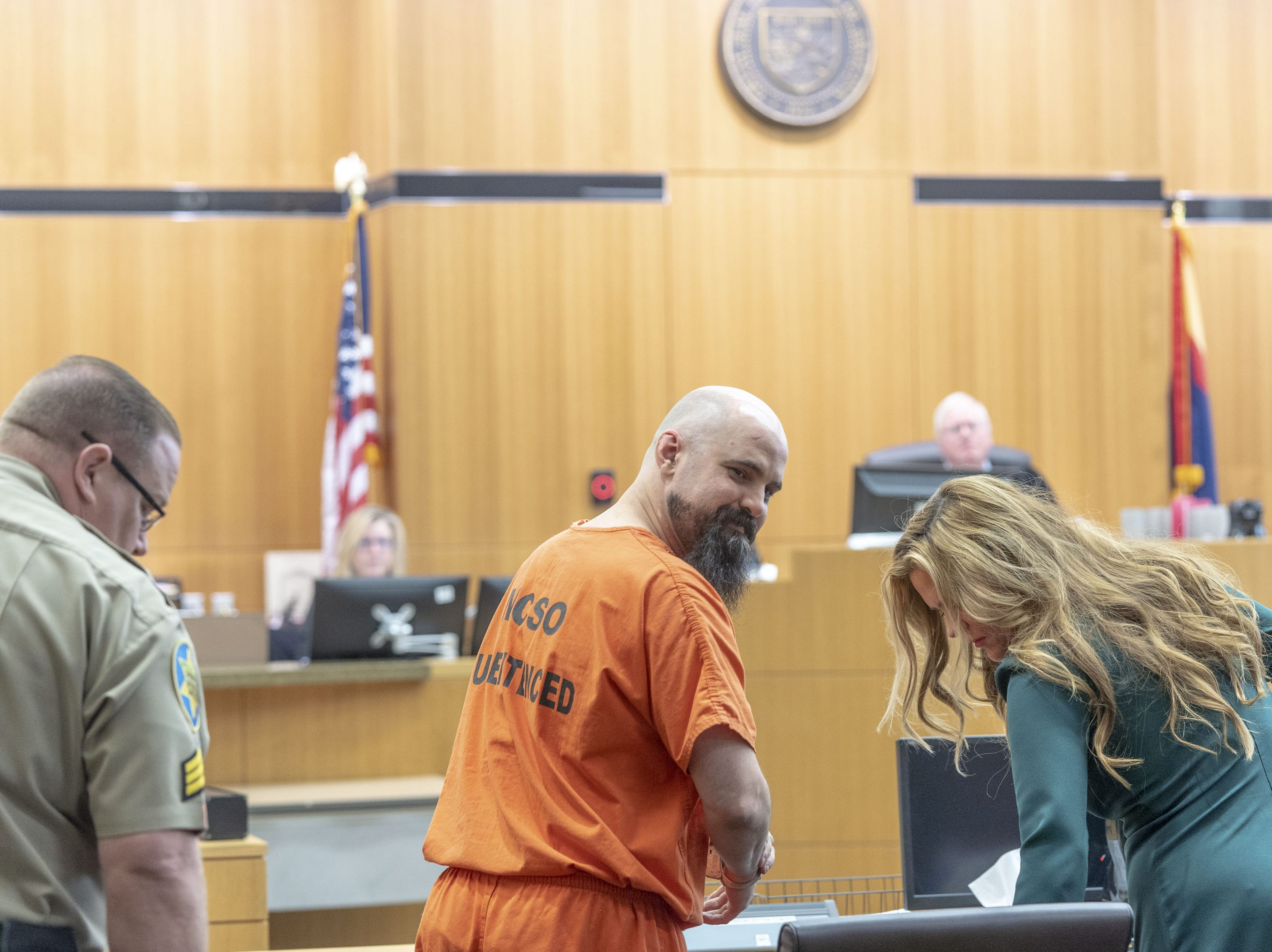 Judge Warren Granville sentenced Michael Crane to life without parole for the first-degree murder of Bruce Gaudet, Glenna and Lawrence Shapiro, kidnapping, burglary, arson, and other charges at Maricopa County Superior Court on March 22, 2019.