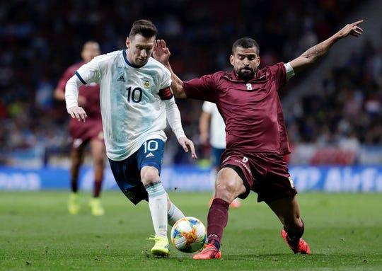 Lionel Messi y Argentina chocan con Venezuela.