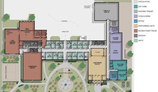 Main layout of the old St. Clair Middle School from its proposed revitalization.