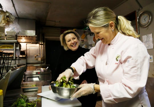 The Would co-owners, from left, Debra Dooley and Claire Winslow in the restaurant's kitchen in Highland on March 21, 2019.